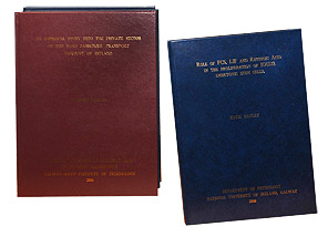 thesis bookbinders Offers all types of binding from journals to menu covers, from bible restoration to thesis binding.